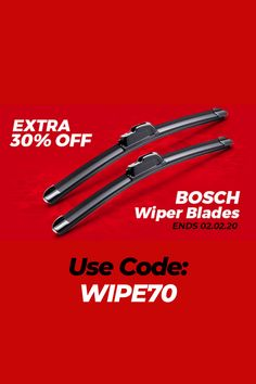 ☔Rainy Day Special - 30% Off Bosch Wiper Blades‼️  #car #autos #Automotive #cartips #autoparts #deals #HotDeals #discounts #rt #offers #VoucherCodes #HotUKDeals #VouchersGet #coupon #promo #onsale #sale #shopping