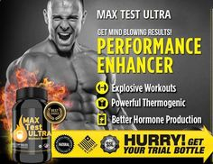 Max Test Ultra is a natural testosterone booster, which support your muscle's metabolic processes in recovers, and aids in lessen occasional soreness after workouts #Muscles #Power #Performance