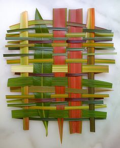 woven leaves, barks and grasses found and foraged on urban walks. nothing is too humble for art.   christina weber