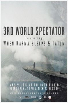 3rd World Spectator Promo Material (Posters) by Peter Crafford, via Behance