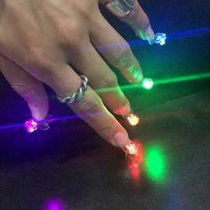 Korean Nail Artist Creates Pierced LED Disco Nails - http://www.odditycentral.com/art/korean-nail-artist-creates-pierced-led-disco-nails.html