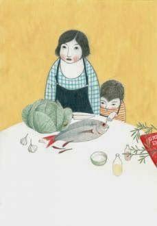 line art illustrator Elena Odriozola, Juan Palomino, Kitty Crowther, Children's Book Illustration, Book Illustrations, Old Art, Simple Art, Mother And Child, Collage Art