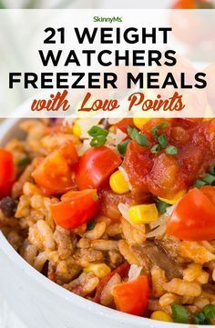 21 Weight Watchers Freezer Meals with Low Dots . - 21 Weight Watchers Freezer meals with low points - Weight Watcher Dinners, Weight Watchers Frozen Meals, Plats Weight Watchers, Weight Watchers Diet, Weigh Watchers, Budget Freezer Meals, Healthy Freezer Meals, Dump Meals, Make Ahead Meals