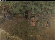 Bonnard, Pierre - La famille du compositeur Claude Terrasse dans le jardin - Alte Nationalgalerie, Berlin