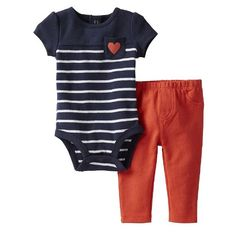 Carters Girls 024 Months Heart Pant Set 24M *** Details can be found by clicking on the image.