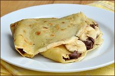 Nutella Banana crepes. I have made these today...they were yummy.
