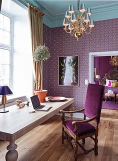 VINTAGE & CHIC: decoración vintage para tu casa · vintage home decor: Decorando en morado, lila y berenjena · Decorating in purple, lilac and aubergine