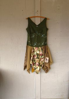 Romantic Artsy dress/Tunic upcycled clothing by lillienoradrygoods, $69.50