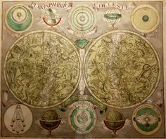 Celestial planisphere; Tobias Conrad Lotter - Planisphaerium Coeleste - ca. 1750