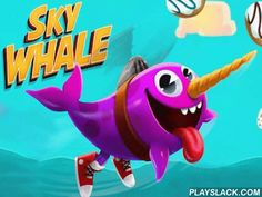 Sky Whale  Android Game - playslack.com , Control a flying narwhal moving through the atmospheres using a propeller. govern the conqueror on evading  helpful bonuses. support the conqueror of this game for Android fly for as long as accomplishable. To do this, don't forget to accumulate the flying donuts. They will give the narwhal the energy to act flying. In component the atmospheres have many bonuses that when had  can give the narwhal astonishing speed. Do quests and open brand-new…