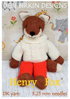 HENRY FOX TOY KNITTING PATTERN