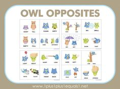 There are so many fun ways to teach opposites and when I saw this adorable owl opposite clipart I knew I had to create printables for you! I have a series of printables featuring our Owl Opposites friends coming your way, so be sure to subscribe so you don' miss any! First, I have a …