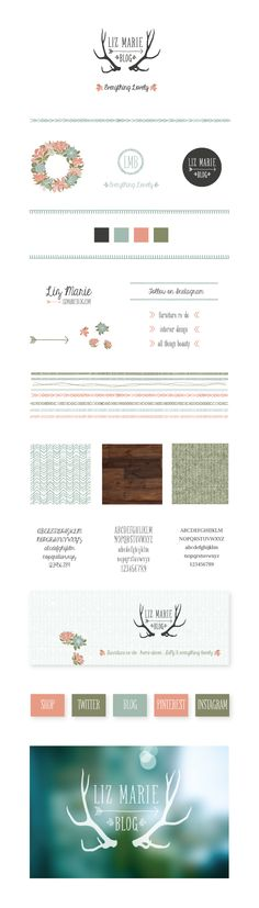 LizMarieBlog visual identity 2013 by Nina Randone  www.ninarandone.com  #graphicdesign #inspiration #branding