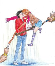As much as I love the movies, I'll always love Ginny and Harry from the book a million times more than the movies.