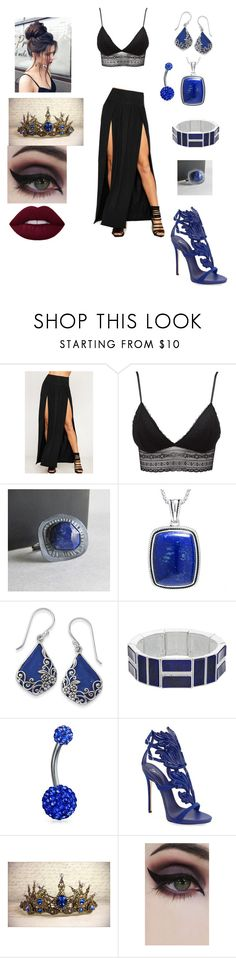 """""""sp"""" by cindy-morton on Polyvore featuring WearAll, Charlotte Russe, Chaps, Bling Jewelry, Masquerade, Giuseppe Zanotti and Concrete Minerals"""