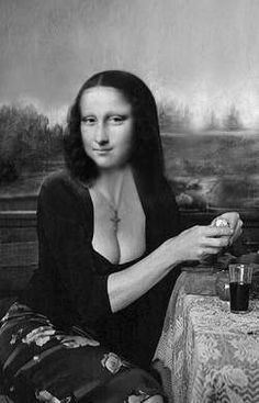 Lisa in the Kitchen --Mona Lisa : More Pins Like This At : FOSTERGINGER @ Pinterest.
