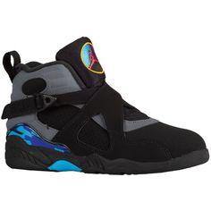 Jordan Retro 8 - Boys' Preschool - Shoes ($80) ❤ liked on Polyvore featuring sneakers