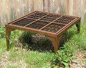 Wood Coffee Table With A Letterpress Type Tray Top. A Handmade Table That You…