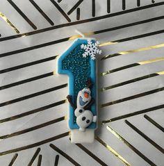 Frozen birthday candle / frozen birthday / by SelinasCraftShoppe