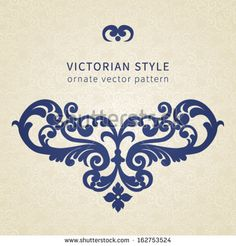 Vector baroque ornament in Victorian style. Ornate element for design. Toolkit for designer. It can be used for decorating of invitations, greeting cards, decoration for bags and clothes.