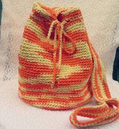 Artesanatos da Dessa : Bolsa saco de crochê