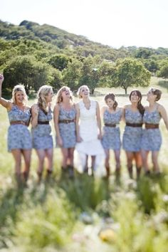 Country bridal party. - cute :)