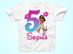 Moana Birthday Tshirt, Moana Birthday Shirt,  Personalized HawaiianParty Tshirt by FunPartyDay on Etsy