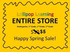 $5 FOR ENTIRE STORE!!  K-3 Jeopardy Games Flipcharts Calendars Powerpoints Printables Holiday Fun  Save over $100 with this bundle!  Happy Spring!