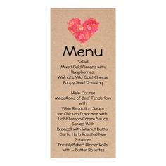 Shop Craft Hearts Skinny Wedding Table Menu created by DizzyDebbie. Heart Wedding Invitations, Wedding Invitation Design, Lemon Cream Sauces, Walnut Butter, Poppy Seed Dressing, Beef Tenderloin, Wedding Table, Wedding Ideas, Menu Cards