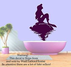 Wall Decals Mermaid Sun Decal Vinyl Sticker Bathroom Window Nursery Children Bedroom Hall Home Decor Dorm Interior Art Murals MN521 >>> See this great product. Note: It's an affiliate link to Amazon