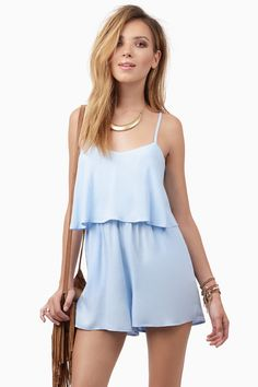 Light Blue Crosswalk Romper at $22 (was $38)