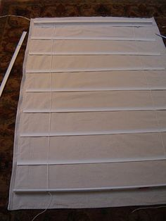 How to make roman shades from mini blinds!