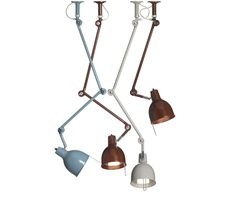 PJ50–PJ52  PJ is originally from the 1930s when it was used as industrial work lamp. PJ had a bold and lively makeover and became an office classic.  This large family of enamelled metal task lights is available in a number of configurations. With oversized metal detailing contrasting the smooth enamel finishes, Pj confidently stands out as a well-designed and beautifully crafted light that has stood the test of time.