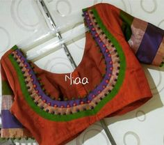 Blouse Courtesy Designer Blouse Ideas DM for Credits or Removal 😃 Tag your picture to get featured on our page Cutwork Blouse Designs, Patch Work Blouse Designs, Simple Blouse Designs, Stylish Blouse Design, Salwar Neck Designs, Saree Blouse Neck Designs, Bridal Blouse Designs, Designer Blouse Patterns, Instagram