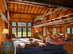 10 Rustic Barn Ideas To Use In Your Contemporary Home - http://freshome.com/2013/11/18/10-rustic-barn-ideas-use-contemporary-home/