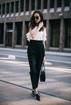 Тенденция: брюки с высокой посадкой 1