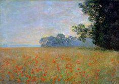 Claude Monet | Oat and Poppy Field - Claude Monet - WikiPaintings.org