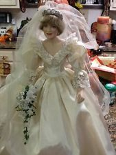Porcelain Bride Doll Franklin Mint; Princess Diana