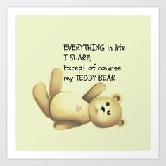 Teddy Bear Art Print by Veronica Ventress - $17.68