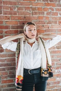3 cool ways to style a silk scarf – Meg McMillin