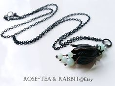 Fuchsia Floral Pendant Necklace  Semi-Precious by RoseTeaAndRabbit https://www.etsy.com/uk/listing/465378609/fuchsia-floral-pendant-necklace-semi?ref=shop_home_active_1