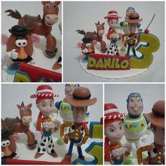 Lembrancinha e topo de bolo - Biscuit Making Of : Topo de Bolo Toy Story - Cintia