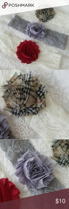 NEW BUNDLE OF 3 Lace Baby Girl Headbands Stretchy Soft Lace Headbands Accessories Hair Accessories