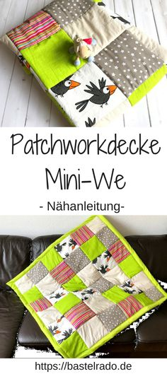 Patchworkdecke Mini-We: Nähe dir die Decke einfach selbst! Just sew a patchwork quilt yourself? I& show you how it works. The post Patchwork Blanket Mini-We: close the blanket yourself! appeared first on Charlotte Thompson. Patchwork Blanket, Patchwork Baby, Patchwork Quilting, Patchwork Ideas, Sewing Crafts, Sewing Projects, Sewing Tips, Sewing Tutorials, Sewing Hacks
