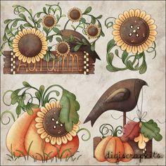 Autumn Crow 1 Clip Art Set
