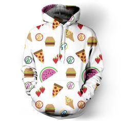 New Fashion Hooded Men/Women Hoodies 3d Printed harajuku Hamburger the Big Mac Men Sweatshirt Cap Hoodies Tracksuits