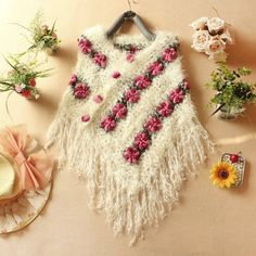 Popular Hand Crochet Poncho-Buy Cheap Hand Crochet Poncho lots ...