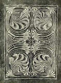 Rug design by Patriz Huber, produced in 1899
