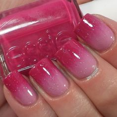Pink gradient nails {Essie Big Spender, OPI Lucky Lucky Lavender, INM Northern Lights}