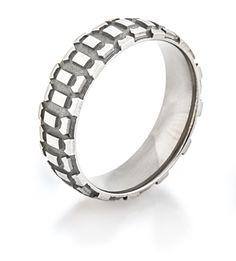 Motorcycle Tread Titanium Ring